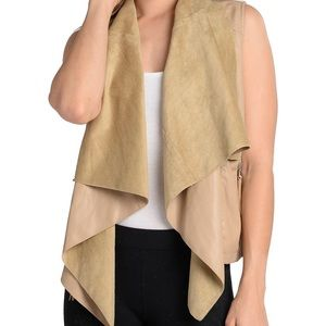 Faux Leather and suede vest